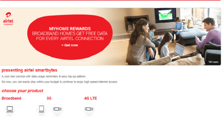 Airtel Smartbytes,How to Check Airtel Broadband Internet Data Usage