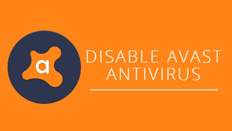 Disable Avast