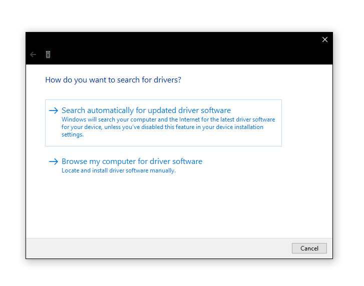 Windows check for any driver updates and download