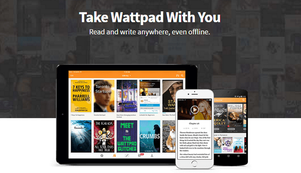 Wattpad for PC features