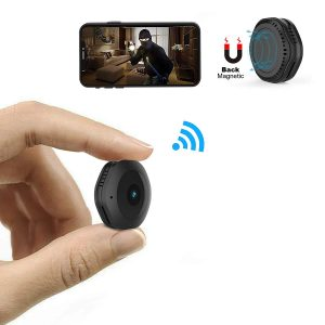 Mini WiFi Camera,MRSGUO Spy Wireless Hidden HD 1080P Portable Home Security Small Nanny Cam with Motion Activated/Night Vision Plus
